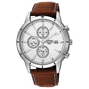 省 Lorus 男装计时报警带 RF325BX9 手表