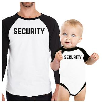 Security Dad Baby Boy Clothes Funny Matching Dad and Baby Shirts