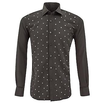 Oscar Banks Metallic Stars Print Men's Shirt