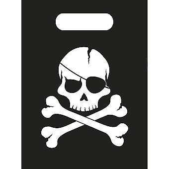 Pirates Black Skull Pirat Totenkopf Party Tüten Geschenktüten 6 Stück Kindergeburtstag Mottoparty