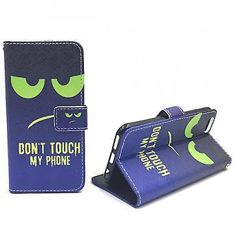 Handyhülle Tasche für Handy Apple iPhone 6 / 6s Dont Touch My Phone Grün