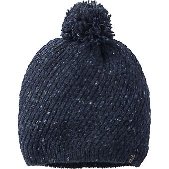 Jack Wolfskin Womens/Ladies Merino Wool Chunky Knit Bobble Cap Hat
