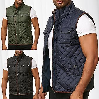 Men's Quilted Vest Sleeveless Outdoor Vest Stand-up collar Trekking
