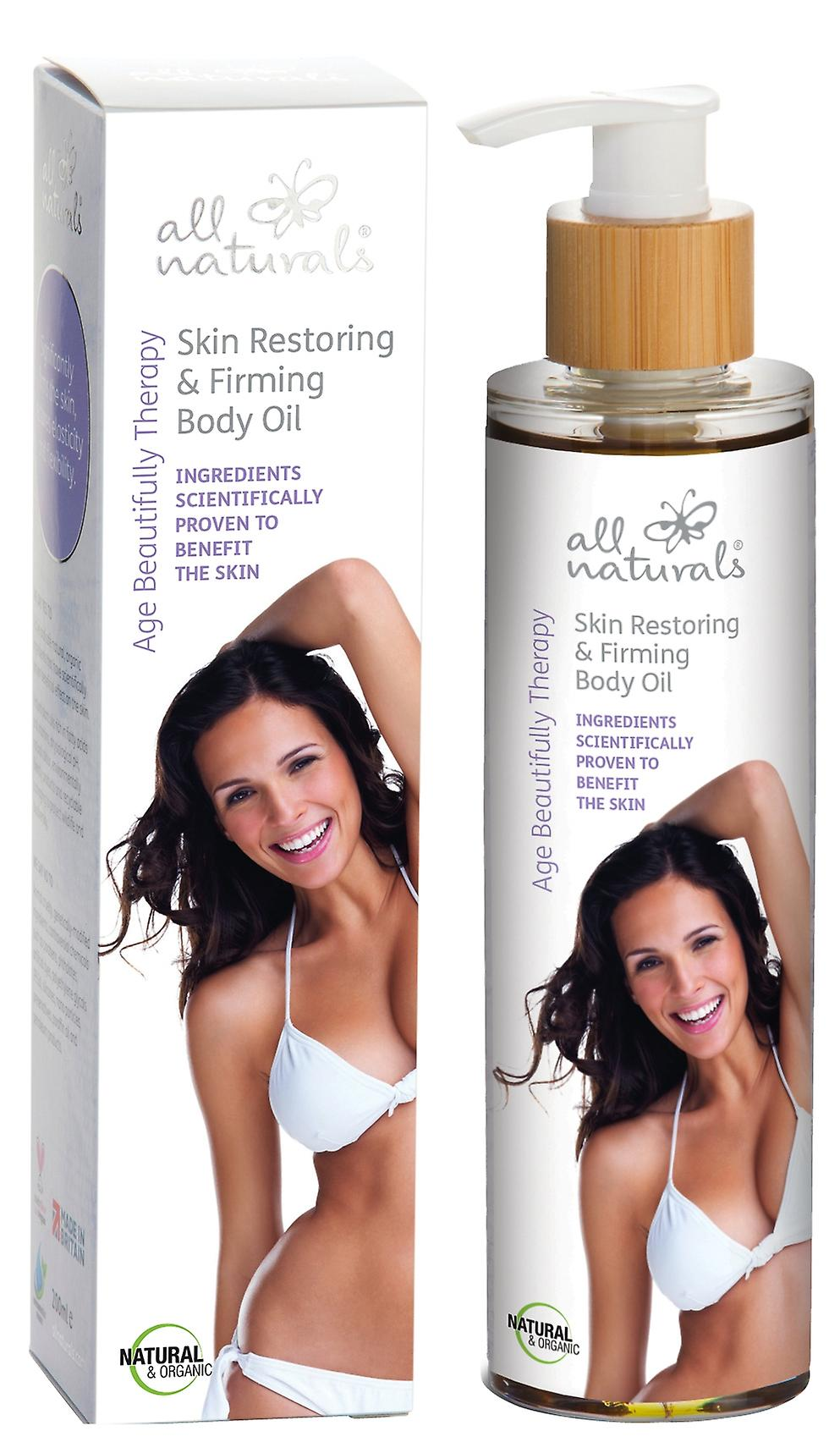 Organic Skin Restoring & Firming Body Oil. Age Beautifully Therapy. 200ml