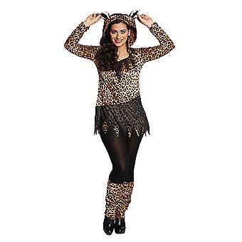 Leopard-villikissa Leopard paita eläin puku puku naisille