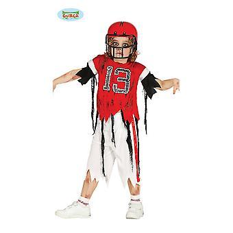 Zagueiro de zumbi para jogador de futebol para crianças halloween horror assustador carnaval