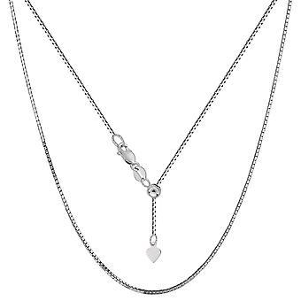 Sterling Silver rod galwanicznie regulowane pole naszyjnik łańcuch, 0,8 mm, 22