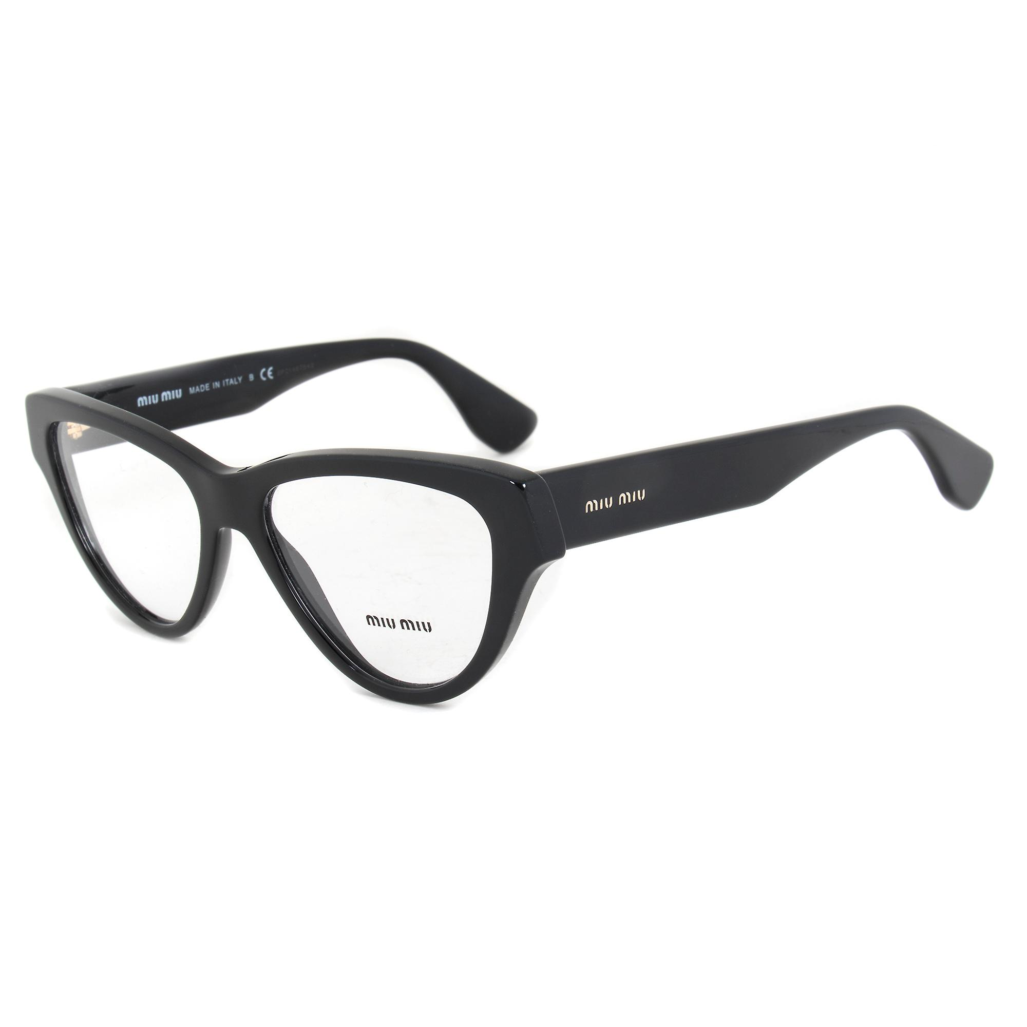 Miu Miu SMU10NVA 1AB1O1 Cat Eye | Black| Eyeglass Frames