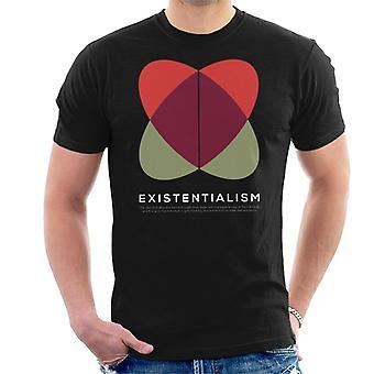 Existentialismus Philosophie Symbol Herren T-Shirt
