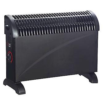 Powatron 2000 w 2 kw 黒対流式ヒーター ポータブル電気サーモスタット
