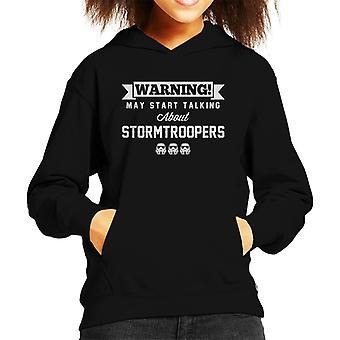 Original Stormtrooper Warnung kann reden Kinder Sweatshirt mit Kapuze