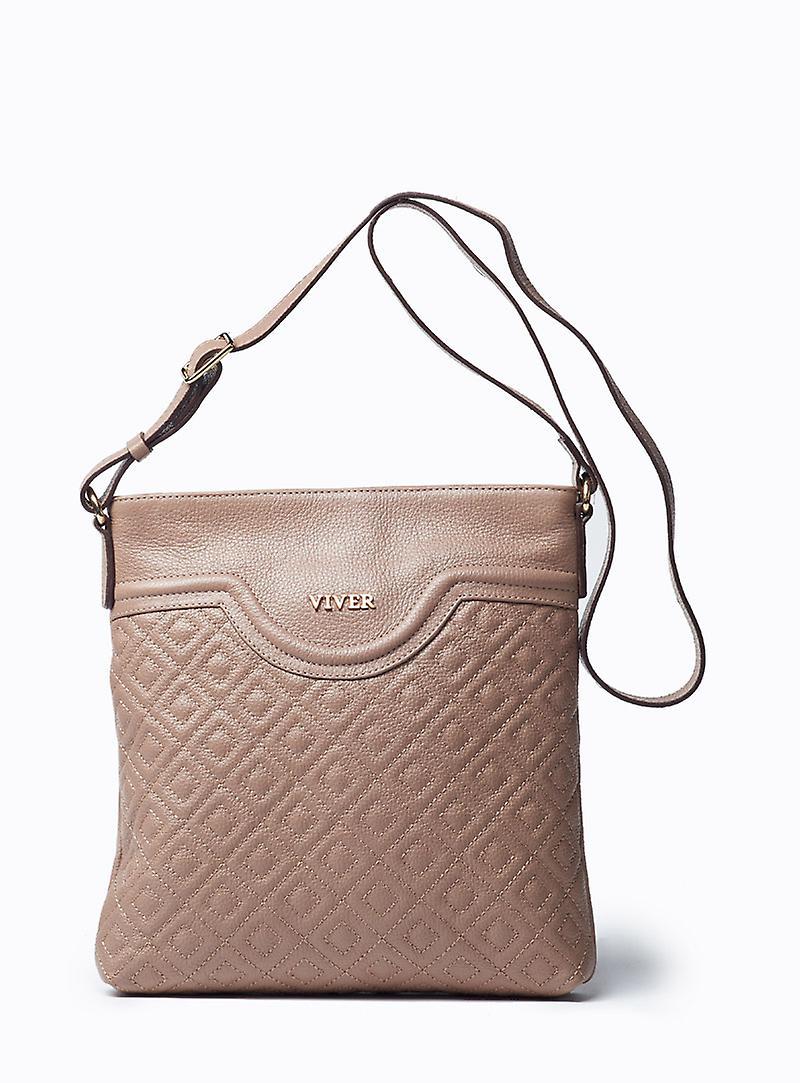 Viver Leather Crossbody Bag Alma Stone