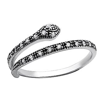 Snake - 925 Sterling Silver Jewelled Rings - W30967x