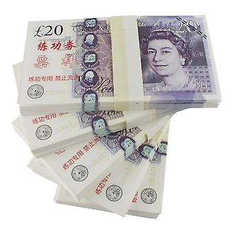 Play money-20 pounds (100 banknotes)