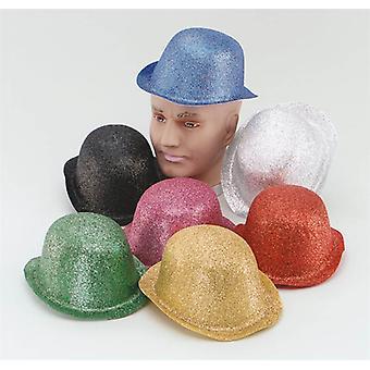 Glitter zilver Plastic Bowler.