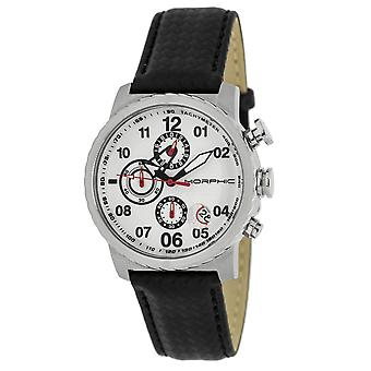 Morphic M38 Series Chronograph Men?s Watch w/ Date - Silver
