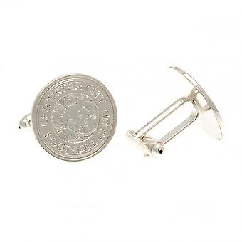 Leicester City FC Silver Plated Crest Cufflinks