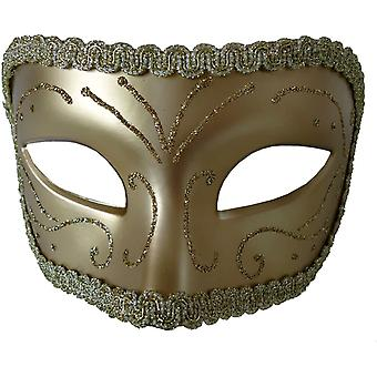 Medieval Opera Mask Gold Gold For Masquerade