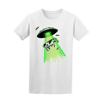 Ufo Alien Flying Saucers Cows Tee Men's -Image by Shutterstock