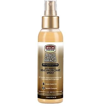 African Pride Black Castor Miracle Anti-Humidity Heat Protection Spray 4oz