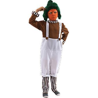 Childrens Oompa Loompa Chocolate Factory World Book Day Fancy Dress Costume