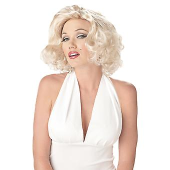 Sexy Marilyn Monroe 1950s 1960blonde Bombshell Womens Costume Perruque