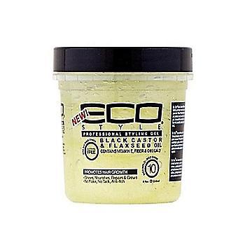 Eco Style Black Castor & Flexseed Oil Styling Gel 8oz
