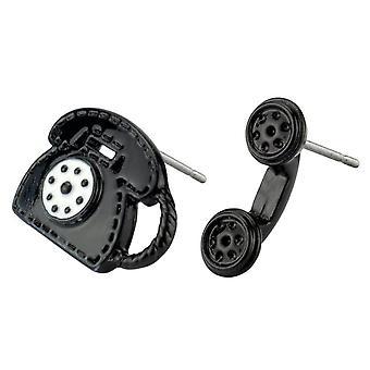Telefon svart dubbade örhängen