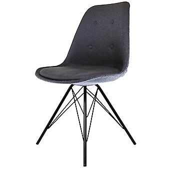 Fusion Living Eiffel Inspiré Dark Grey Fabric Dining Chair with Black Metal Legs Fusion Living Eiffel Inspiré Dark Grey Dining Chair with Black Metal Legs Fusion Living Eiffel Inspiré