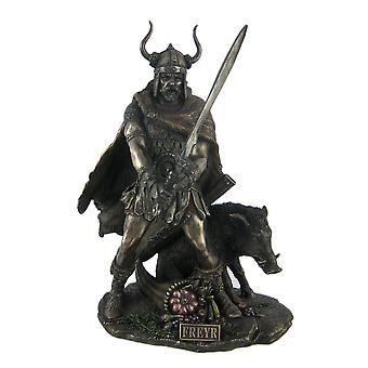 Norse God Freyr Bronzed Finish Statue Pagan Fertility