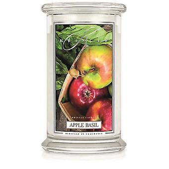 Kringle Candle Scented Large 22oz Classic Jar 2-Wick Apple Basil