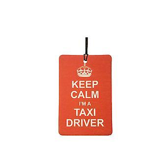Keep Calm I'm A Taxi Driver Car Air Freshener