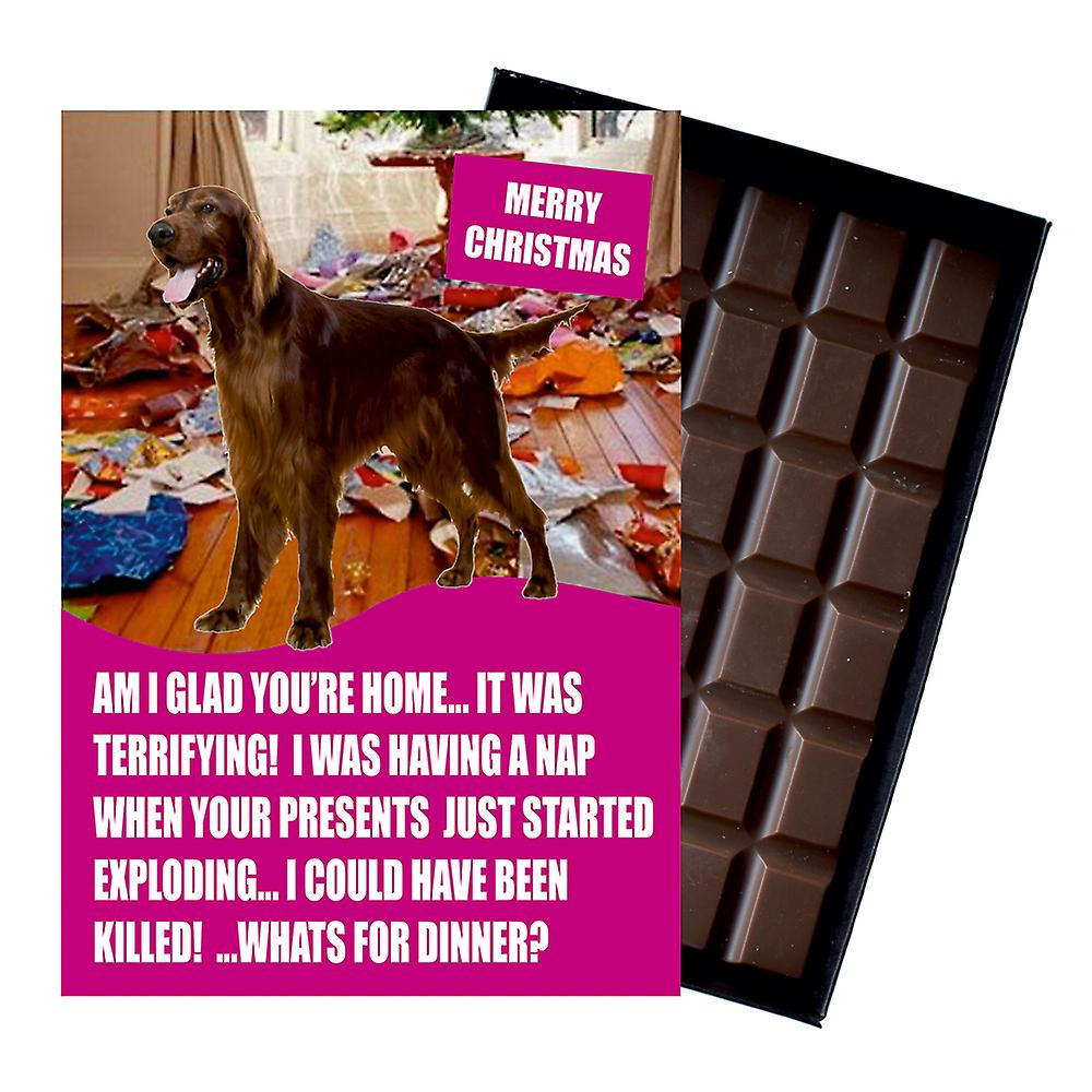 Border Collie Funny Christmas Gift For Dog Lover Boxed Chocolate Greeting Card Xmas Present