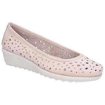 The Flexx Womens Run Perfed Wedge Perforated Shoe Rose