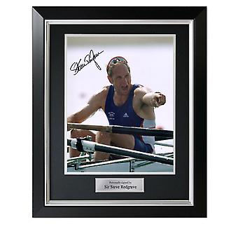 Steve Redgrave underskrev roning Photo: Five time Olympic Champion. I Deluxe frame