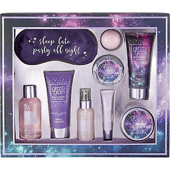 Style & Grace Glitz & Glam Galaxy Sleep Late Gift Set - 120ml Bath Gel, 110ml Body Lotion, 110ml Body Wash, 60ml Body Butter, 50g Bath Fizzer, 25g Bath Confetti, Eye Mask, 50ml Body Mist and 10ml Lip Gloss