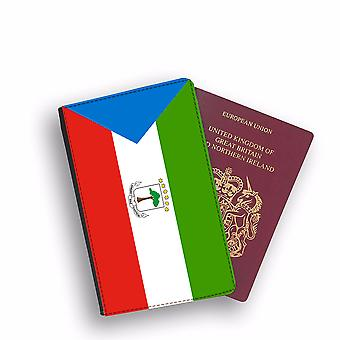 EQUATORIAL GUINEA Flag Passport Holder Style Case Cover Protective Wallet Flags design