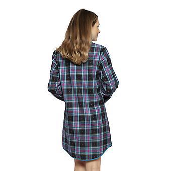 Cyberjammies 4264 vrouwen ' s ezme zwart mix check katoen Nachthemd