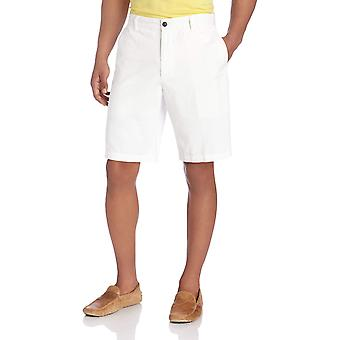 Dockers Men's Classic Fit Perfect Short Cotton D3, Black), 32W, White, Size 32