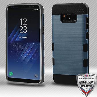 Galaxy S8 Plus için MYBAT Kayrak Mavi / Siyah Fırçalı TUFF Trooper Hibrid Kılıf