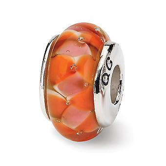 925 Sterling Silver Polished Reflections Red Murano Glass Bead Charm Pendant Necklace Jewelry Gifts for Women