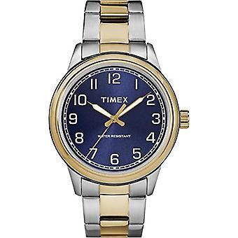 TW2R36600 Timex miesten kelloa kvartsia liikkuvuus, klassinen analoginen kellotaulu ja ruostumaton teräs bändi