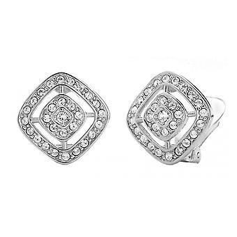 Traveller clip earring - rhodium plated - Swarovski Crystals - 157015