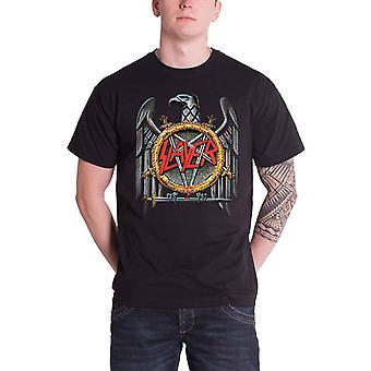 Logo de banda Slayer T camisa para hombre de plata águila espadas cruzadas nuevo negro oficial