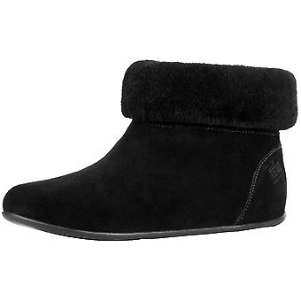 FitFlop Womens sarah shearling Fabric Round Toe Ankle Fashion Boots