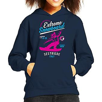 Extrema snowboard ' 19 ' 20 Sestriere France Kid ' s camisola com capuz