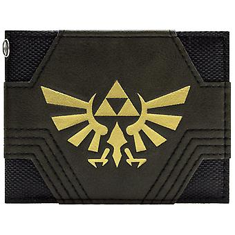 زيلدا نينتندو مزخرفة بالذهب Triforce معرف & بطاقة المحفظة ثنائي الطي