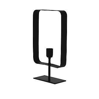 Lámpara 25 x 10 x 45 Cm de la mesa de luz y vida YALU mate negro