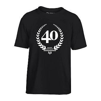 T-shirt bambino nero dec0154 happybirthday