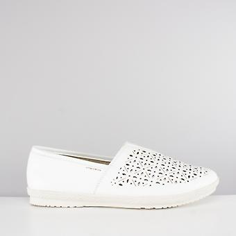 Earth Spirit Worcester Ladies Slip On Shoes White